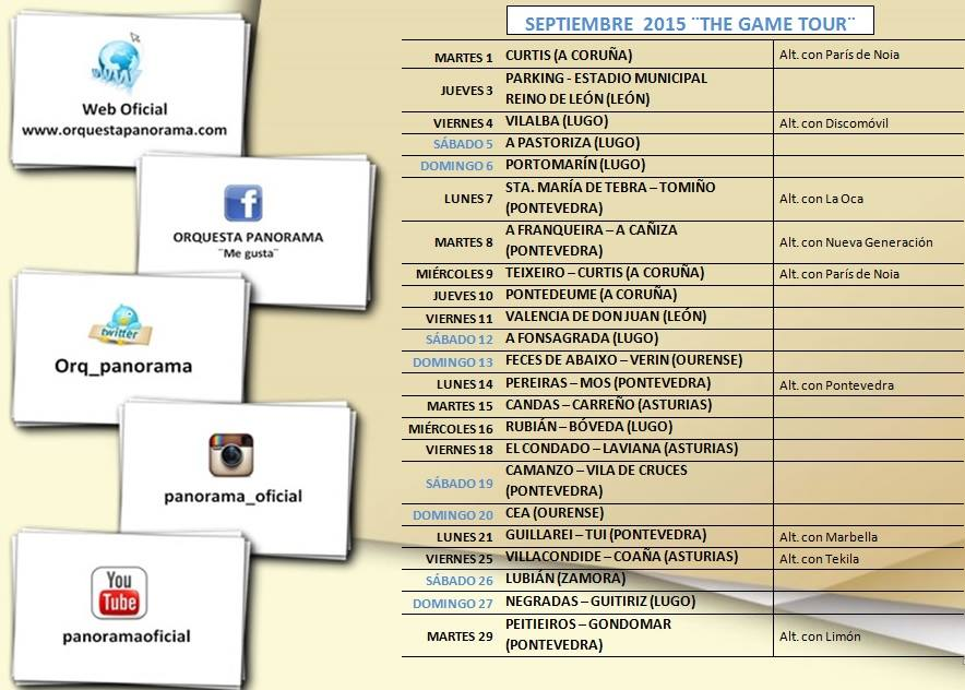 Orquesta Panorama Calendario.Orquesta Panorama Orquestas De Espana